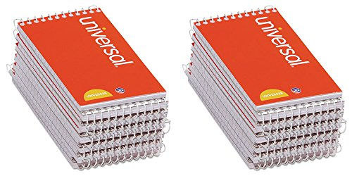 - Universal 3x5-Inch Narrow Ruled Wirebound Memo Book, 12 per Box (UNV20435-CL), 2 Packs