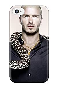 Rugged Skin Case Cover For Iphone 4/4s- Eco-friendly Packaging(david Beckham Soccer )