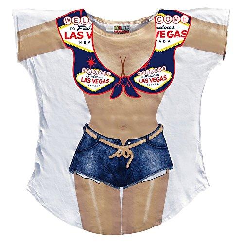 LA Imprints Women's Bathing Suit Cover Up-Las Vegas Sign-XL