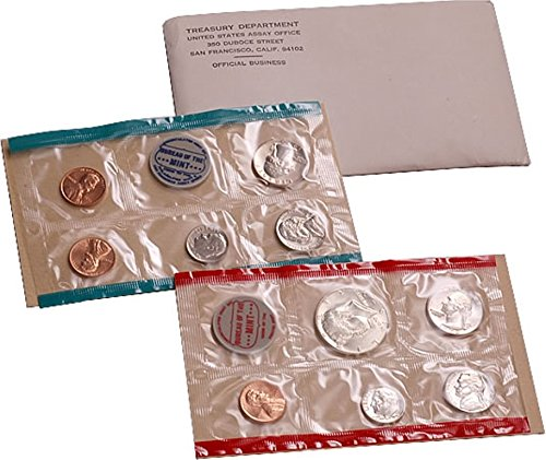 1970 U.S. Mint Set – 10 coin set Includes Scarce D Mint Half Dollar.