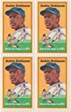 Jackie Robinson Set of 4 x 20 Cent US Postage Stamps NEW Scot 2016