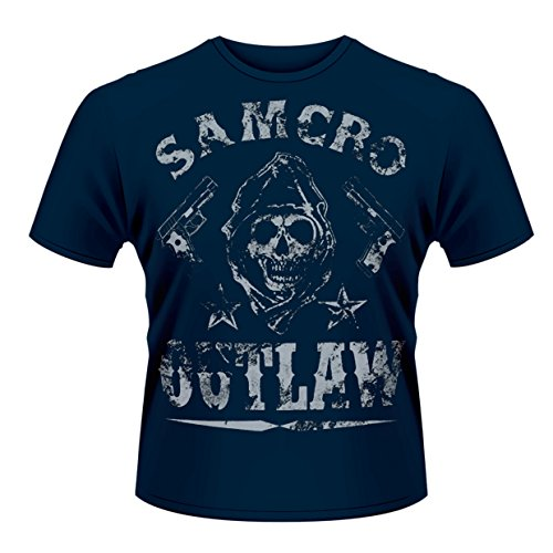 [해외]Sons Of Anarchy 썬 오브 무질서 Outlaw 공식적인 망 블루 t 셔츠 / Sons of Anarchy Sun of Anarchy Outlaw Official Men`s Blue T-Shirt