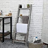 MyGift Wall-Leaning Rustic Gray with White Finish