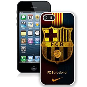 DIY Case For Sam Sung Galaxy S5 Cover Design with Fc Barcelona Cell Phone Case For Sam Sung Galaxy S5 Cover Generation in White