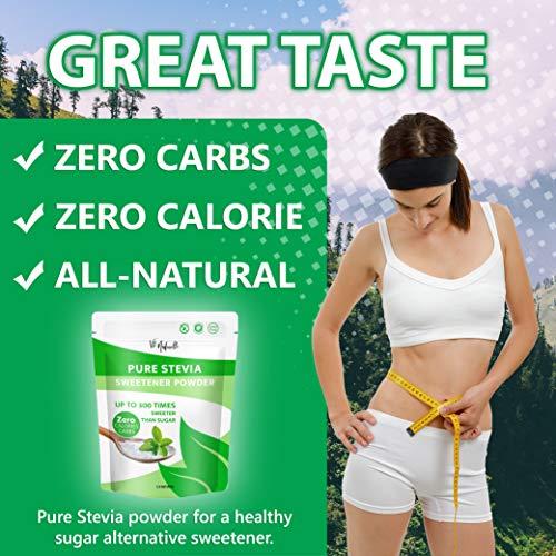 Vie Naturelle Pure Stevia Powder Extract Sweetener - 750 Servings - Zero Calorie Sugar Substitute - No Artificial Ingredients 3