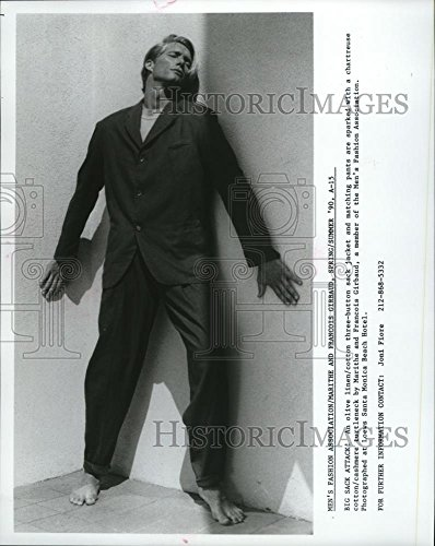 - Vintage Photos 1990 Press Photo Three Button Sack jacket by Marithe and Francois Girbaud