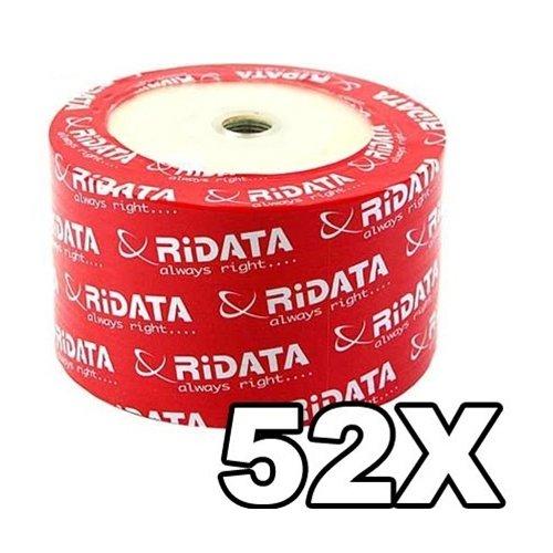 600 Ritek Ridata 52X CD-R 80min 700MB White Inkjet Hub Printable by Ritek