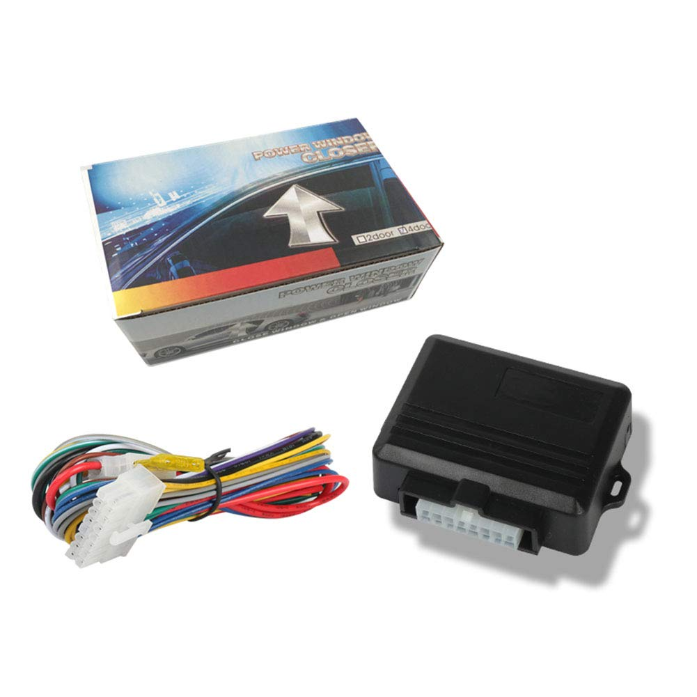 Cerradura Enrollable Universal para Ventana de Coche para 4 Puertas XuBa Protector de Sistemas de Alarma para Coche Cierre autom/ático m/ódulo de Alarma para Coche