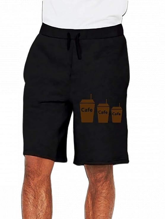 JiJingHeWang A Cup of Coffee Mens Casual Shorts Pants