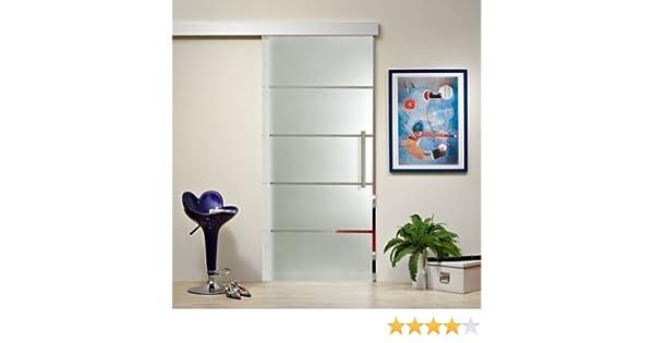 Para puerta corredera de cristal ST 816 - 1025 x 2050 x 8 mm DIN izquierda, 8 mm cristal de seguridad con una decoración serigráfica, mango y sistema de panel: Amazon.es: Bricolaje y herramientas