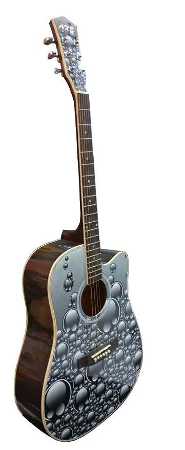 axe designer graphic 41c jumbo acoustic guitar with amazon in