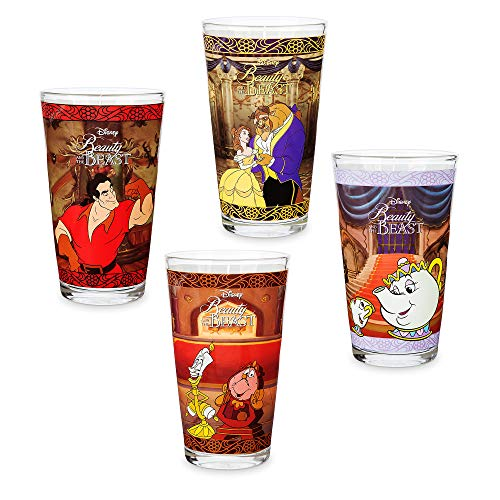 (Disney Beauty and the Beast Drinking Glass Set - 4 pc. - Oh My Disney No)