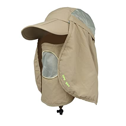 52d2adceb99 Buy Generic Hat UV Protect Nylon for Camping Fishing - Khaki Online at Low  Prices in India - Amazon.in