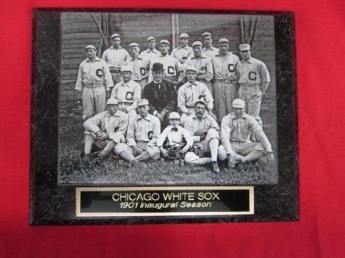 - 1901 White Sox INAUGURAL SEASON Collector Plaque w/8x10 TEAM PHOTO!