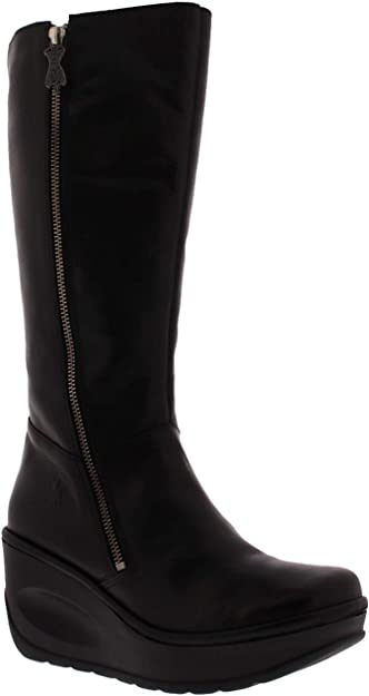 Fly London Womens Boots YAZO528FLY Wedge Casual Ankle Leather