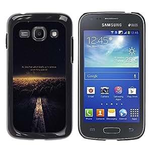 Caucho caso de Shell duro de la cubierta de accesorios de protección BY RAYDREAMMM - Samsung Galaxy Ace 3 GT-S7270 GT-S7275 GT-S7272 - Pain Achieve Special Kill Dream Quote Execute