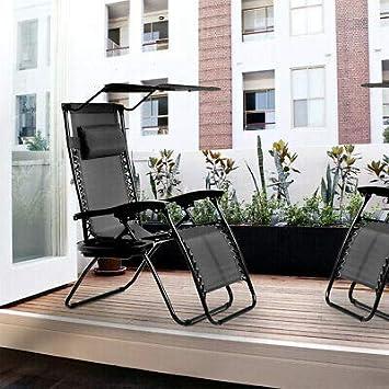 Amazon.com: T-Foot - 2 sillas de gravedad cero con soporte ...