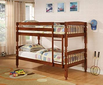 Amazon Com Coaster Coral Collection 460223 Twin Over Twin Bunk Bed