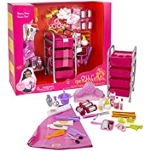 Our Generation Berry Nice Salon Set with 48 Accessories for 18-Inch Dolls