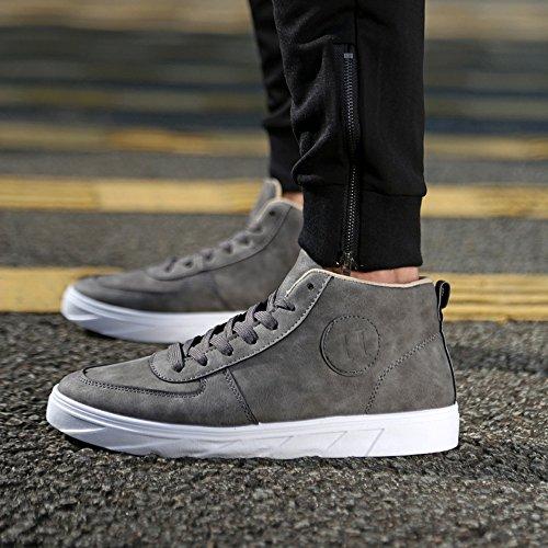 Color con Otoño Cordones Hombres de Lona Gris de Tobillos Zapatos en Puro clásicos de Planos Verano Zapatos los Deportivos los Mocasines Ocasionales 2018 qrFZq7
