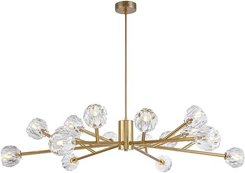 18 Light Crystal Sputnik Chandelier Pendant Lighting Gold Finish Fixture Flush Mount G9 LED Ceiling Light