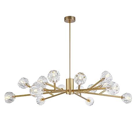 size 40 d670f 2f404 18 Light Crystal Sputnik Chandelier Pendant Lighting Gold ...