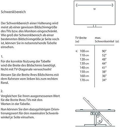 TradeMount Soporte de Pared para TV/Monitor de un Brazo Extensible a 50 cm orientable inclinable 12° para LG 49