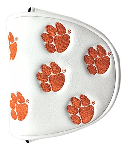 (PRG Americas NCAA Clemson Tigers Mallet Putter Cover, White)