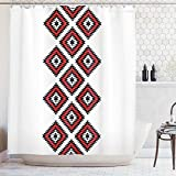 Ambesonne Tribal Shower Curtain, Native Design