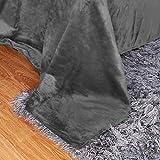 Utopia Bedding Fleece Blanket Queen Size Grey