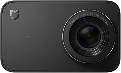 Xiaomi YDXJ01FM Mi 4K Action Camera, 2.4 Touchscreen WiFi Sports Camera with Sony Image Sensor, 145 Wide Angle 4K 30fps 1080P 100fps Video Raw Image, Black