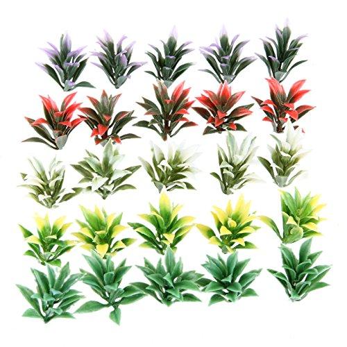 100Pcs Colorful Model Flowering Plants Railway Park Garden Scene 1:100 HO TT Scale Height 4cm