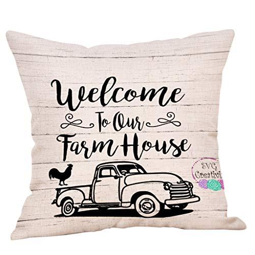 AOJIAN Home Decor Cushion Cover, Farm Life Decorative Throw Pillow Covers Protectors Bolster Case Pillowslip