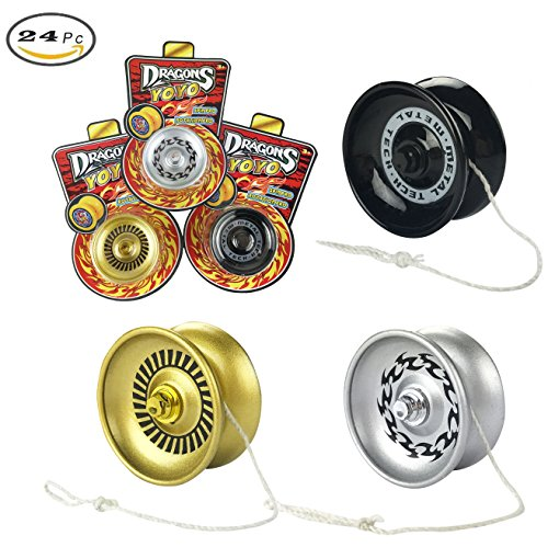 2 Dozen Metal Diecast YoYo Bulk Toy YoYo For Party Favors (Set of (Yoyo Toys)