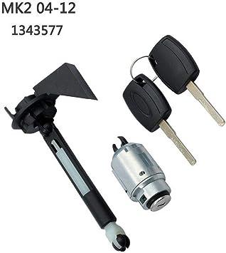 2 Keys for FordFocus MK2 2004-2012 1343577 4M5AA16B970BA 25.5cm//10.04in Justech Bonnet Release Lock Bonnet Lock Repair kit Latch