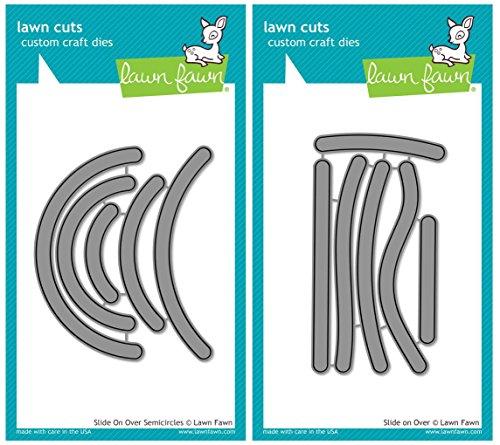 e Card Slider Die Sets - Slide on Over Semicircles and Slide on Over Lawn Cut Dies (Die Slide)