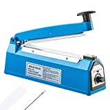 8 inch Impulse Bag Sealer Poly Bag Sealing Machine Heat Seal Closer,with Extra Heating Element & Teflon Sheet