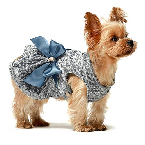 Fitwarm Embroidery Dog Dresses Pet Clothes Prom Puppy Dress Cat Birthday Doggie Party Gown