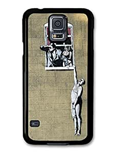 AMAF ? Accessories Hanging out of a Window Banksy case for Samsung Galaxy S5 by icecream design