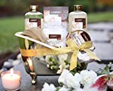Father's Day Home Spa Gift Basket, 13 Piece Bath