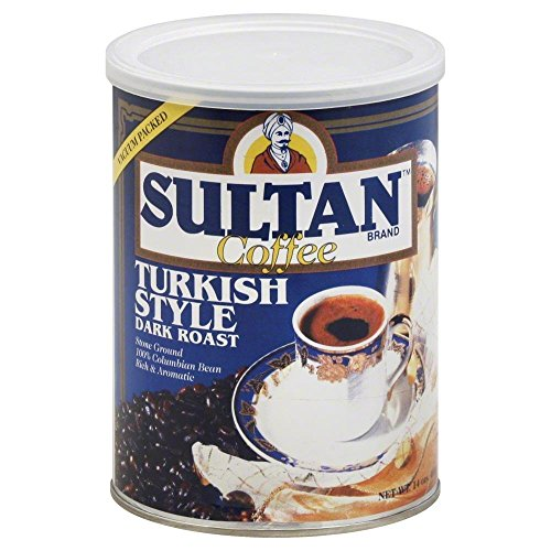 Sultan Dark Roast Turkish Coffee, 14 Ounce -- 6 per case.