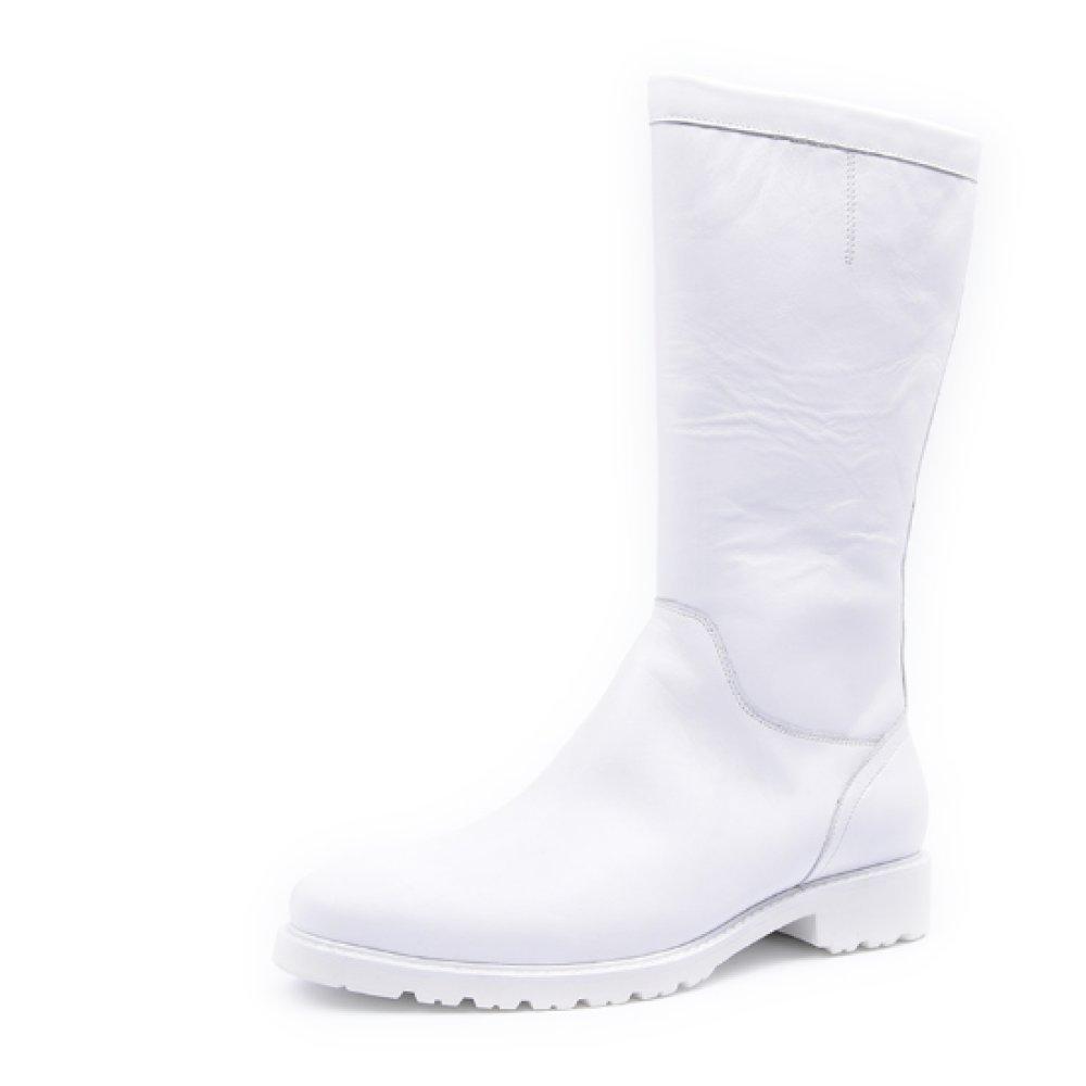 NIUMJ Britische Schuhe Lederstiefel Herbstmodelle Mode Hohe Stiefel Klassisch Mode Stiefel Martin Stiefel Tragbar Atmungsaktiv