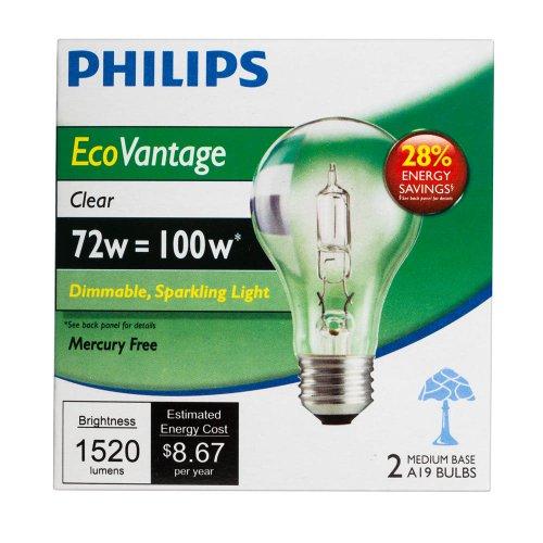 046677410483 - Philips 429241 72W Equivalent 100 Watt-1490 Lumens Clear Halogen Bulbs carousel main 2