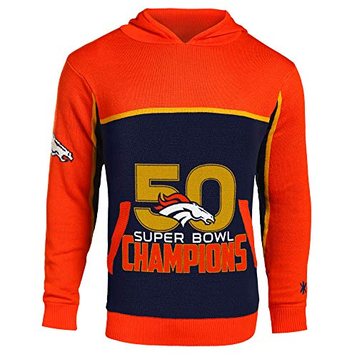 Forever Collectibles Denver Broncos Super Bowl 50 Champions Pullover Hoody - Mens Extra Large ()