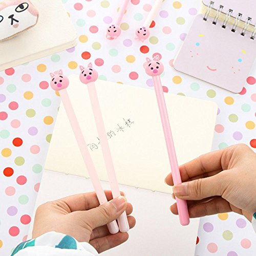 GOOTRADES 8 Pack Cute Pig Writing Gel Ink Pen for Office School Student ,0.38 mm Tip Photo #8