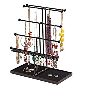 Castlencia Velvet Tray Extra Large 5 Tier Tabletop Bracelet, Necklace, Earring Display Jewelry Tree – Jewelry Organizer Holder