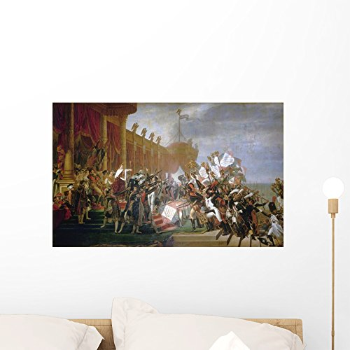 Wallmonkeys The French Army Takes an Oath to Emperor Napoleon After The Distribution of Eagles Wall Decal Peel and Stick Graphic WM109259 (24 in W x 15 in -