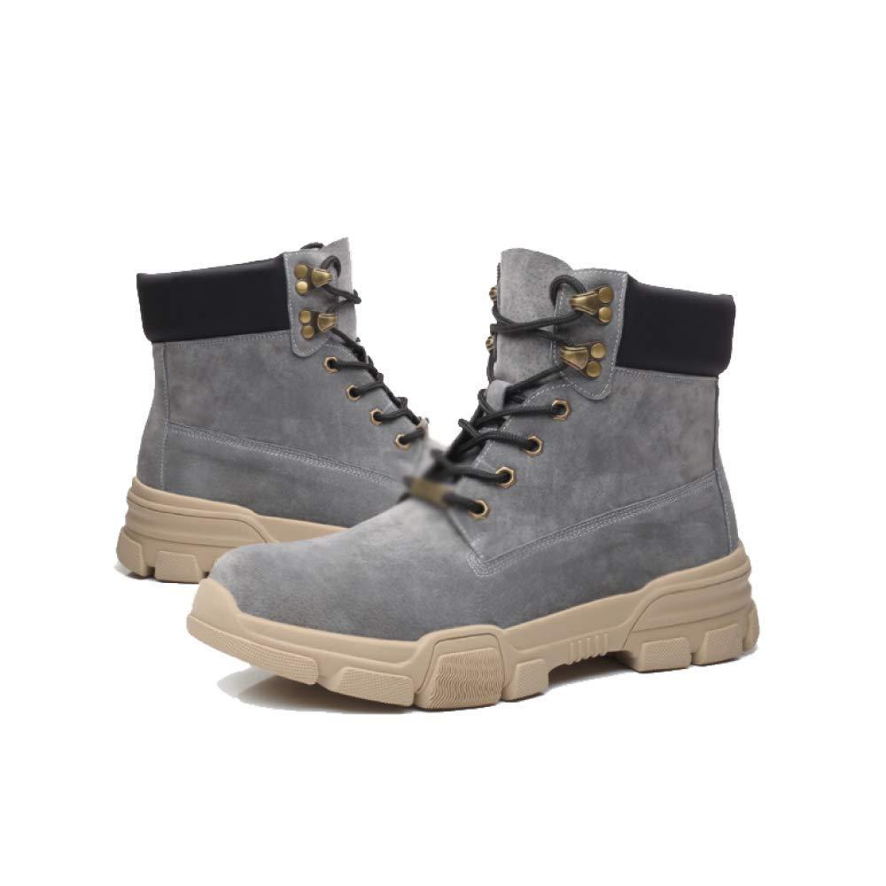 NIUMT Herren Martin Stiefel Outdoor Wanderschuhe Tragbar Tragbar Tragbar High Top Schuhe Casual Chelsea Stiefel 814981