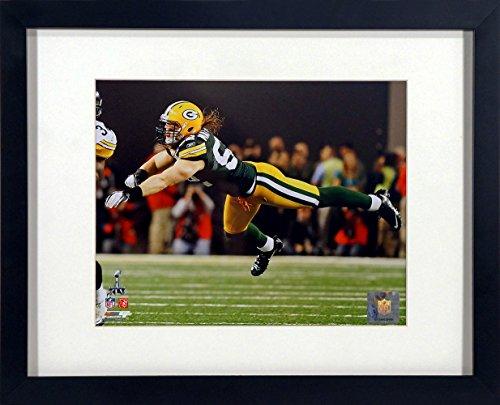 Green Bay Packers Clay Matthews Super Bowl XLV 8x10 Photograph (SGA UnderFifty Series) Framed (Belt Clays)