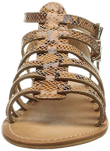 Les Tropéziennes - Sandalias de cuero para mujer Marrón